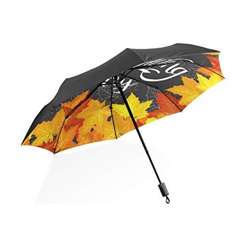 Paraguas para Viajes Celebración de Acción de Gracias Feliz de Oro Portátil...