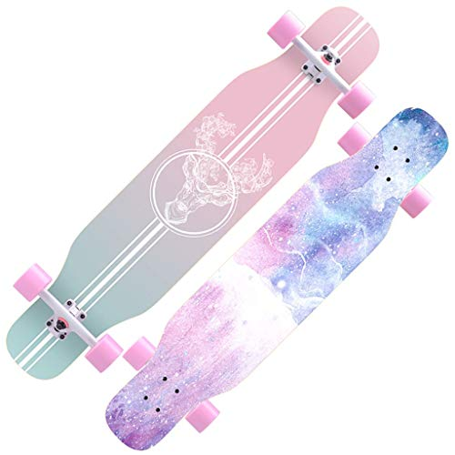 DUWEN-Skateboard Anfänger Ahorn Longboard Erwachsene Jungen und Mädchen Professionelle Pinsel Street Dance Board Teen Vierräder (Farbe : B)