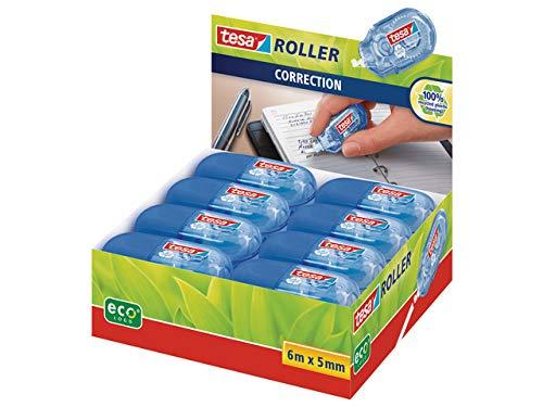 Tesa Mini Roller Correction ecoLogo, (Blue 16er Pack) Display