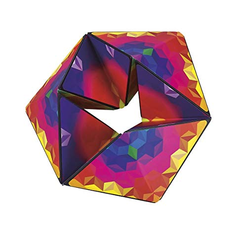 """Karmagami by Shashibo - """"Pixels"""" Sensory Toy for Kids - Kaleidocycle Fidget Toy for Adults to Stay Calm & Focused - Tear-Resistant Desk Manipulative Puzzle Gadget (Ages 4+)"""