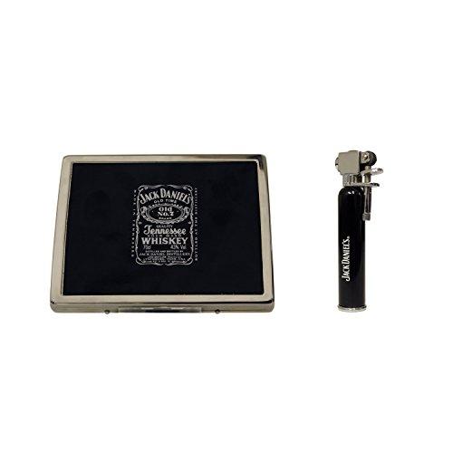 Jack Daniel's gefluit sigaret koffer en vuursteentje actie gasaansteker