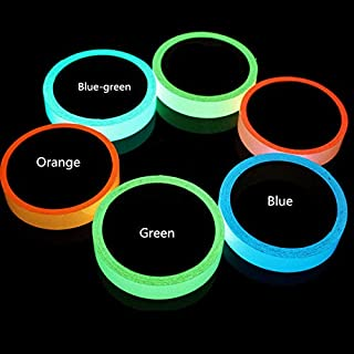 16.4 ft x 1.6 inch Glow in The Dark Tape Self-Adhesive Fluorescent Tape Luminous Tape Wall Stickers Home Decoration (Blue Green)