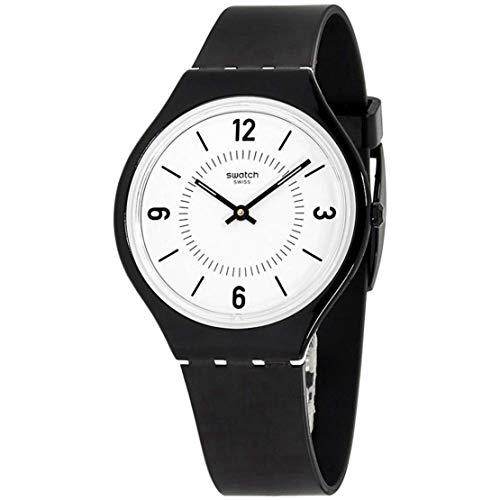 Swatch SVOB101 Skinsuit Herren-Armbanduhr, 36 mm, Weiß