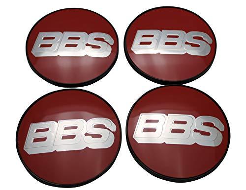 BBS Original Emblem Nabendeckel Rot Silber Nabenkappe Felgendeckel 70mm 4K