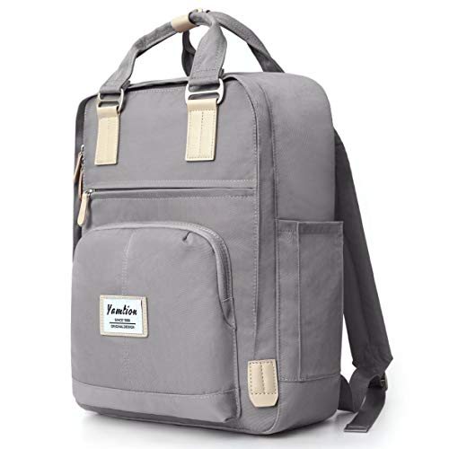 YAMTION Rucksack Damen & Herren Daypack Unisex,Schulrucksack Laptop Rucksack Frauen Tagesrucksack mit Laptopfach für 15.6 Zoll Laptop,für Schule Universität Freizeit Arbeit