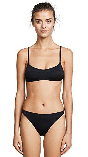 Solid & Striped Women's Swim Team Elsa Bikini Top, Black, Small