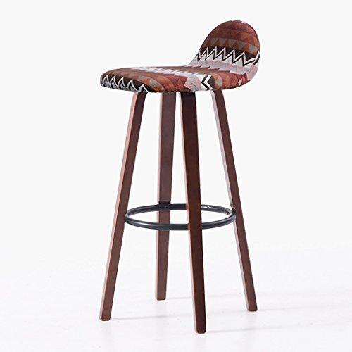 Guo shop- Continental Simple, En Bois, Géométrique Forme Coussin Bar Creative Haute Chaise Européenne Chaise Vintage Bar Tabouret Hauteur 70 Cm Bonne chaise (Couleur : B)