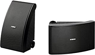 """NSAW592B YAMAHA 6.5"""" 50W Waterproof Speaker Yamaha - Black Outdoor NSAW592 Black Two-Way Suspension Design, Fluid-Cooled, Coated Soft Dome Tweeter for Clear High Frequency Sound"""