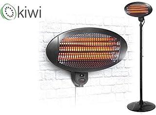 Kiwi 49969 Calefactor Exteriores, Cuarzo, 650/2000 W