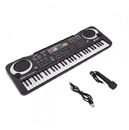Zonfer 61 Tasten Elektronische Tastatur, Digital Piano Instrument & Mikrofon