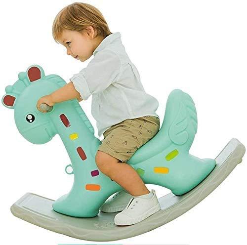 Aaedrag Hohe Qualität Schaukelpferde Rockers & Ride-ons Indoor- und Outdoor-Spielzeug Kleinkind Schaukelpferd for 1-6 Jahre Alt, Last 70kg, Kinder-Schaukelspielzeug, Kinderschaukelstuhl