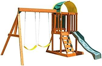 KidKraft Andorra Cedar Wood Swing Set / Playset F24140, Gift for Ages 3-10