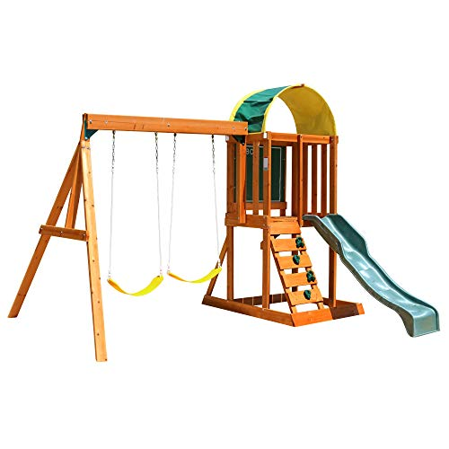 KidKraft Andorra Cedar Wood Swing Set / Playset F24140