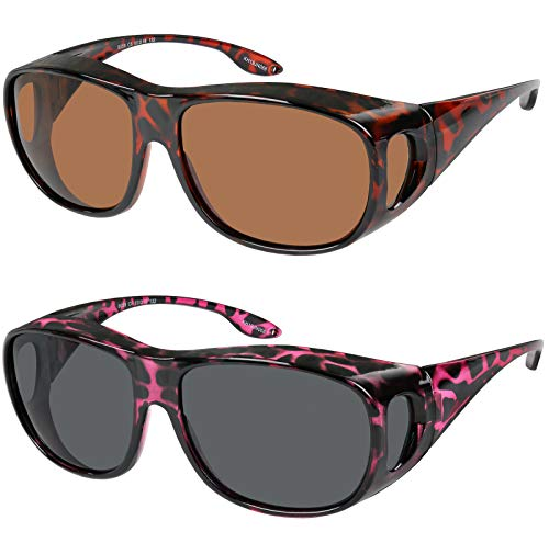 Fit Over Wrap Sunglasses Polarized Lens Wear Over Eyeglasses 100% UV Protection for Men and Women