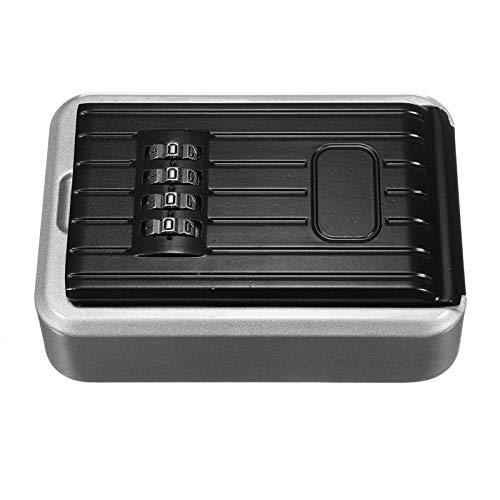 Caja de almacenamiento segura para llaves de seguridad de 4 dígitos con cerradura de combinación montada en la pared para joyería tarjeta casa clave almacenamiento