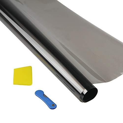 Raamtint Privacy Uv Zonwering Warmte-isolatie Vensterglas Spiegel Tint Film met Gereedschap voor Auto Thuis Slaapkamer Badkamer 300x50cm 5%
