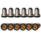 SmartDealsPro 12pcs/lot LED E14 to E12 E14-e12 Halogen CFL Bulb Lamp Light Converter Adapter Lamp Holder