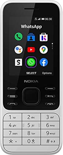 Nokia 6300 4G, Feature-Phone mit Einfach-SIM, Whatsapp, Facebook, YouTube, Google Maps, 4G & WLAN-Hotspot, Google Assistant, Zuverlässiger Performance & Langlebigem Design - Weiß