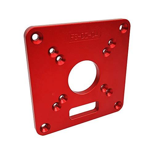 Kecheer Aluminium Router Tisch Einlegeplatte Rot Universal Trimmmaschine Flip Board für Holzbänke Router Tischplatte - Rot