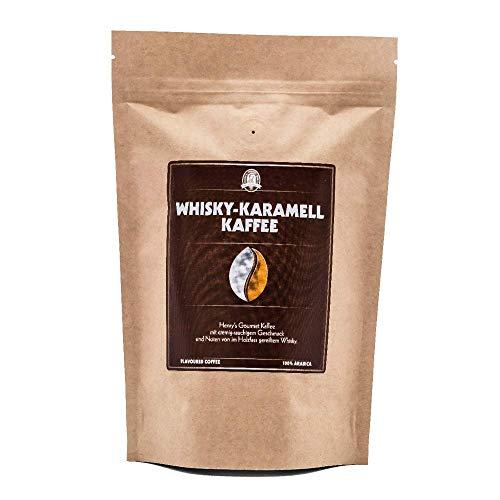 Henry´s Whisky-Karamell Kaffee 250g - Gourmet Kaffee mit feinsten Aromen verfeinert - handwerkliche Röstung - Premium Kaffeebohnen