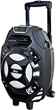 "QFX Portable Bluetooth Speaker - PBX-61081BT/SI Silver - Outdoor Party Speaker, Aux, Wireless, with Built-in 8"" Subwoofer"