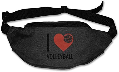 tyui7 Ich Liebe Volleyball Sport Gürteltasche Gürteltasche mit verstellbarem Gummiband zum Wandern Reisen Radfahren