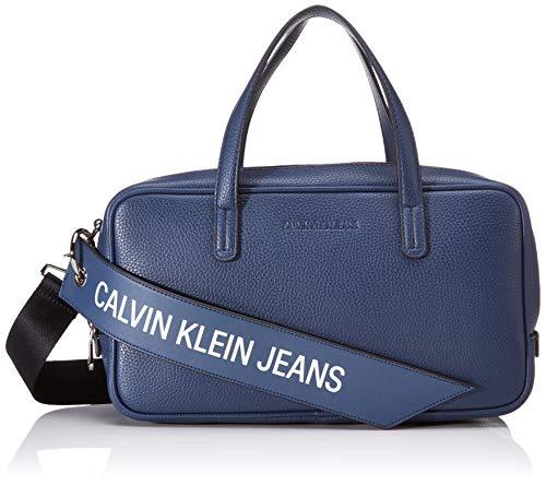 Calvin Klein Ckj Banner Medium Duffle - Borse a secchiello Donna, Blu...