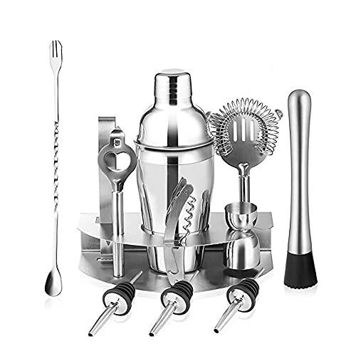 Cocktail Shaker Set Barmender Kit, 12 stuk Cocktail Shaker Set voor gemengde drank, professionele roestvrijstalen bar…