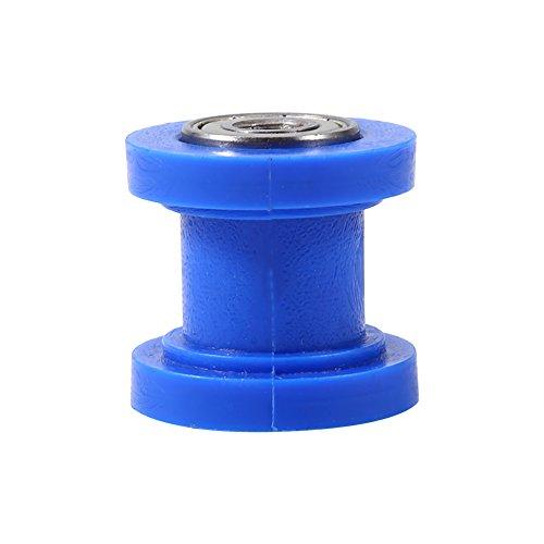Diámetro interno de 8mm Rodillo de cadena polea tensor guía rueda para Dirtbike Moto Pit Bike azul