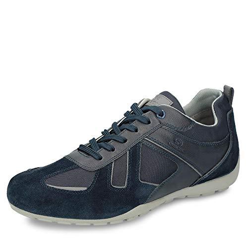 Geox RAVEX U923FD Herren Low-Top Sneaker,Männer Halbschuh,Sportschuh,Schnürschuh,atmungsaktiv,DUNKELBLAU,44