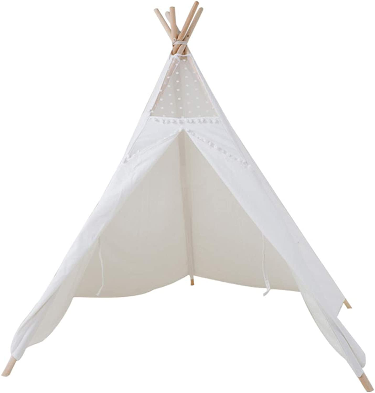 Jueven Weiße Tipi 5 Holzstangen Canvas Tipi Kinder Zelt Indoor Outdoor Kinder Spielzelt (größe   Without mat)B07G5JDMTXHohe Sicherheit  | Geeignet für Farbe