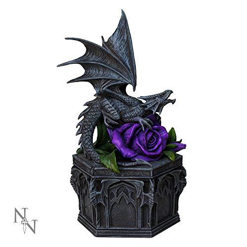 Nemesis Now Dragon Beauty Anne Stokes Box, 25 cm, Schwarz, Kunstharz, Einheitsgröße