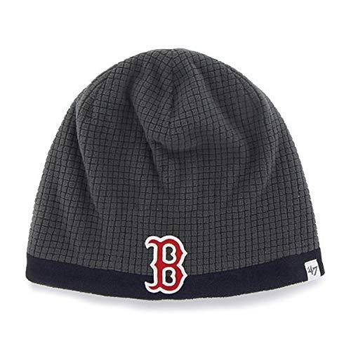 '47 Boston Red Sox Child/Kid's Grid Fleece Cuffless Beanie Hat - MLB, Youth Charcoal Knit Skull Cap