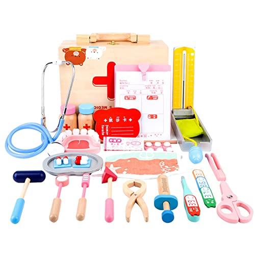 Yingku Kinder Arztkoffer Holz Spielzeug,...
