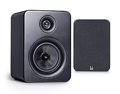 Roth Audio OLI RA1 4 inch 2 Way Pair Of Bookshelf Design Speakers - Black by Roth Audio