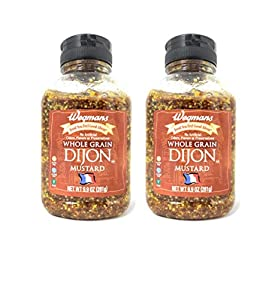 Wegmans Whole Grain Dijon Mustard (2 Pack, Total of 19.8oz)