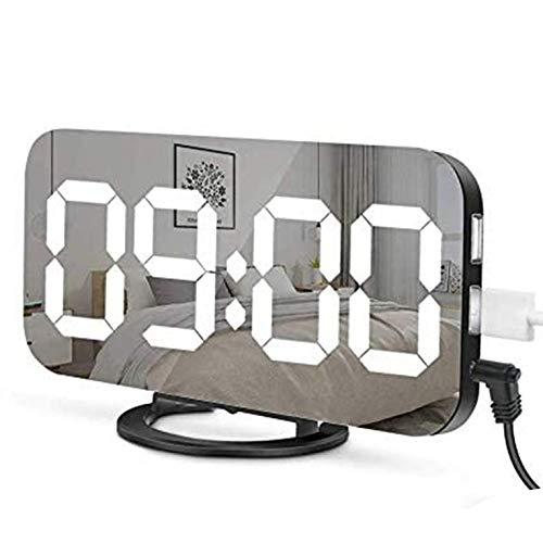 #N/V Reloj LED con espejo digital creativo y de inducción, reloj electrónico de atenuación