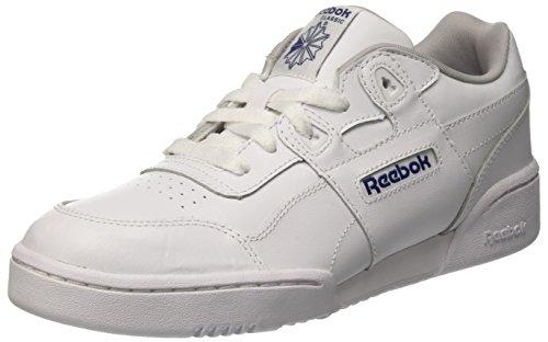 Reebok Unisex-Kinder Workout Plus Sneaker, Weiß (White/Steel/royal 0), 35 EU