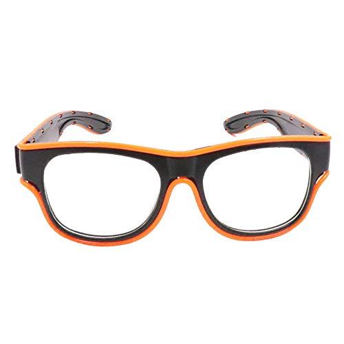 Glaray Kabellos LED Leuchtend Brille USB Wiederaufladbar LED Light Up Brillen Rave Party Leuchtende Sonnenbrille (Orange)