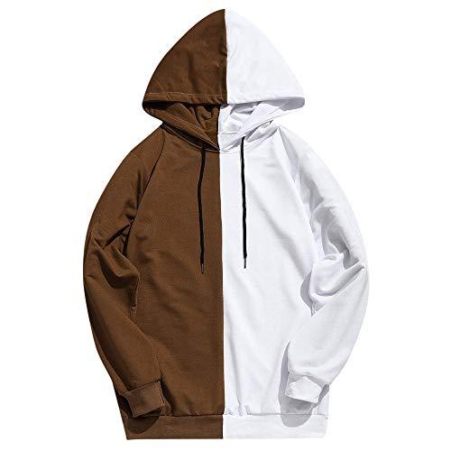 AIni Beiläufigese Herren Patchwork Slim Fit Hoodie Outwear Bluse Sweatshirt Warm Jacke Mäntel Coat Neuheit 2019(S,Gelb)