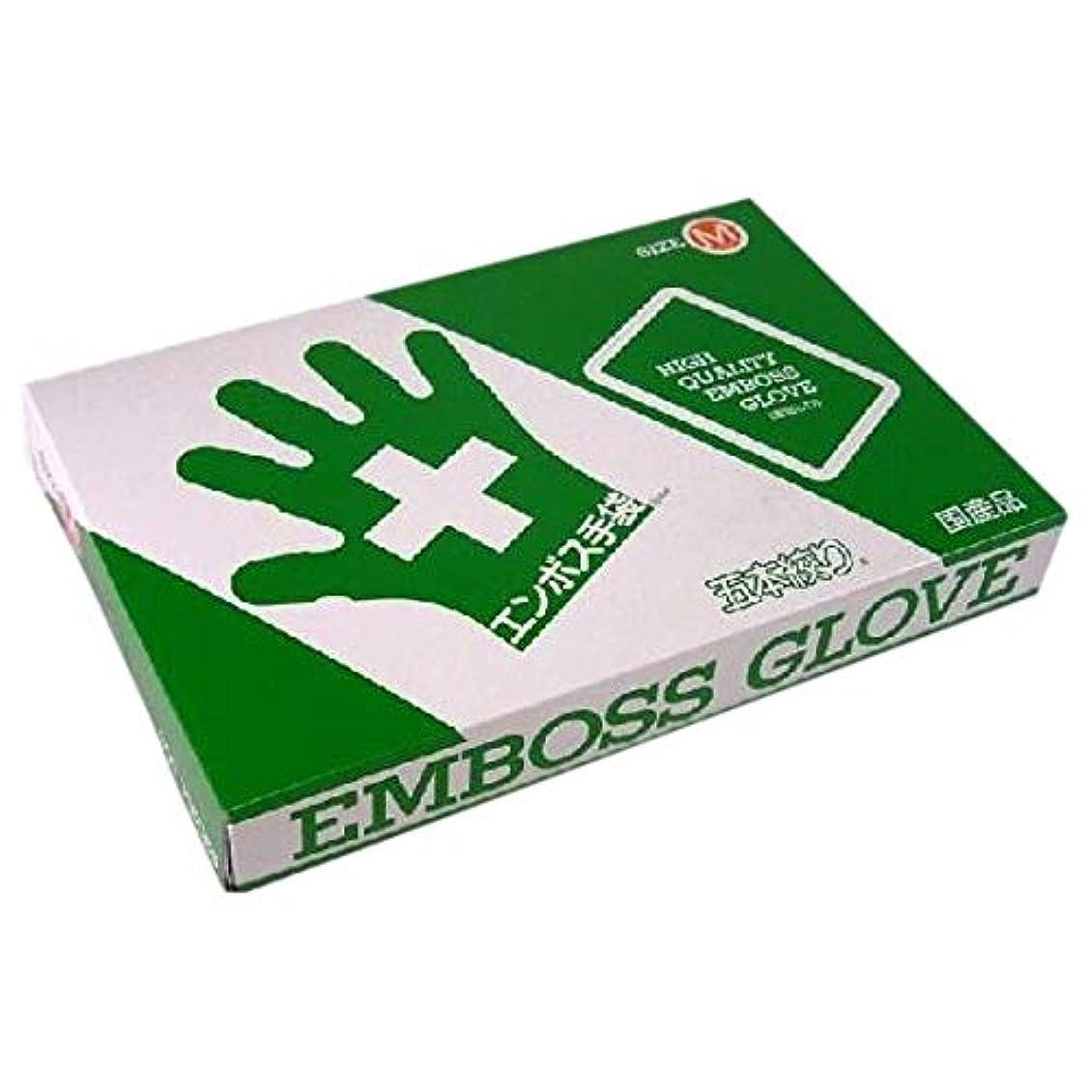 白い光景露エンボス手袋 5本絞り(使い捨て手袋国産品) 東京パック M 200枚入