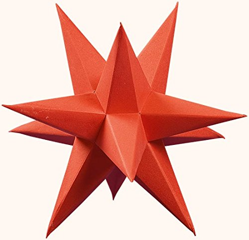 Marienberger Adventssterne 3-Sterne-Set aus Papier, elektrisch beleuchtet, inklusive Elektrik rot , Ø 15cm NEU Papierstern