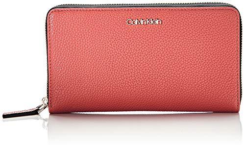Calvin Klein Neat Ziparound Wallet Xl - Portafogli Donna, Rosso...