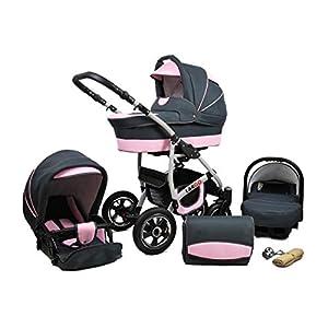 Cochecito de bebe 3 en 1 2 en 1 Trio Isofix silla de paseo New L-Go by SaintBaby Light Pink 2in1 sin Silla de coche