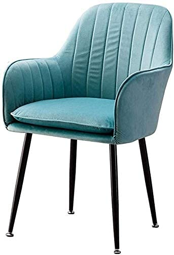 NUANYANG Dining Chair Modern Dining Chair Armchairs with Padded Cushion Seat Velvet Fabric Armchairs Accent Chair Kitchen Restaurant Upholstered Stool