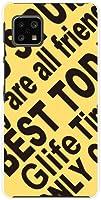 スマホケース AQUOS sense4 basic A003SH アクオス センス フォー ベーシック 対応 SoftBank Y!mobile TPU ソフト カバー ケース ギフト Logo(YELLOW)