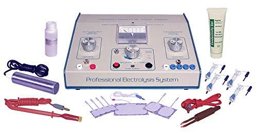 AVX 600 Mezcla Profesional Tono Sistema de Electrólisis Galvánica RF para depilación permanente que incluye un kit de accesorios transdérmicos.