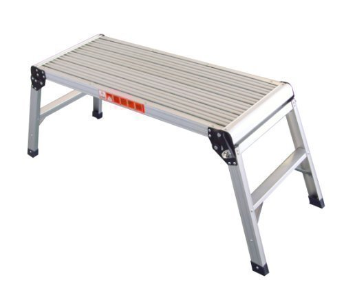 Fine Foxhunter Quality Large Two Step Aluminium Folding Step Up Evergreenethics Interior Chair Design Evergreenethicsorg