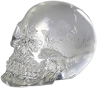 Gift2Smile 12 Clear Crystal Like Mini Skulls Figurines Busts.Cute! 1 Dozen! Halloween Decor Collectible Figurine.So Cool