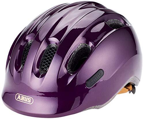 ABUS–Casco de bicicleta para niños Casco Smiley 2.0Royal PURBLE 45–50cm